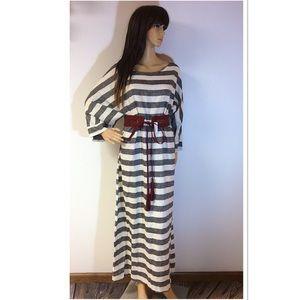 Dresses & Skirts - BLACK AND WHITE STRIPED MAXI DRESS